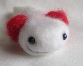 Axolotl Needle Felted Soft Sculpture Gift