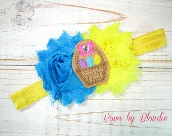 Easter basket Shabby elastic headband!