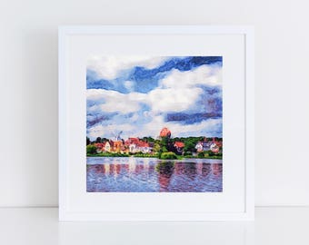 Suffolk Scene - House in the Clouds, Thorpeness - Print of original artwork - art print