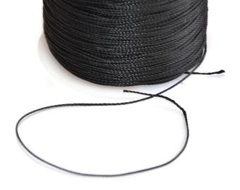 5 m wire black 0.5 mm polyester cord