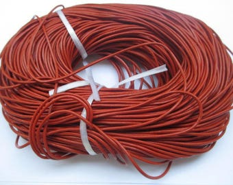 1 meter chocolate 2mm leather cord