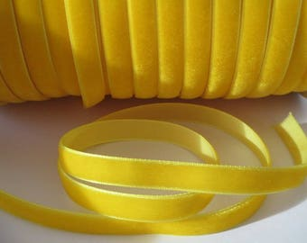 1 m 10 mm wide yellow velvet Ribbon