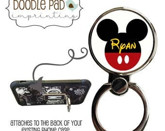 Mickey Mouse Phone Ring Stand, Minnie Mouse Ring Cell Phone holder, Personalized Ring Stand Cell,