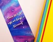 Galaxy Star Bookmark   Peter Pan Quote   Disney Bookmark   Books and Bookmarks   Gift   Disney gift   Stars   Cute bookmark