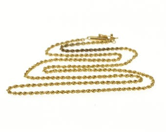 """14k 1.7mm Fancy Rope Link Chain Necklace Gold 18.25"""""""