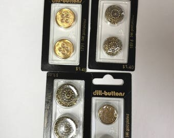 Assorted Gold Plated Buttons 18-25mm WHOLESALE