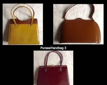 Vintage Purses/Handbags x 3
