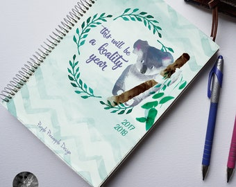 Koality Time —  A5 student planner - weekly planner 2018 agenda with animal illustrations