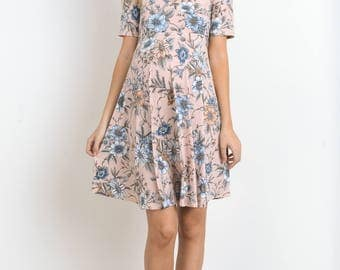Hello Miz Cross Front v-Neck Loose Dress
