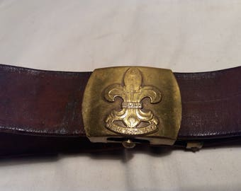 Vintage Swedish Scout Belt