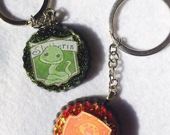 "Glittering keyring Theme ""Harry Potter"""