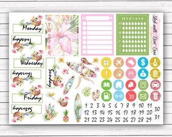 NEW FORMAT || Aloha add-on stickers || Erin Condren planner vertical layout