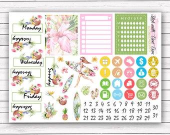 NEW FORMAT || Aloha add-on stickers || Erin Condren planner vertical layout