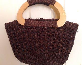 Vintage 70s Mini Straw Handbag