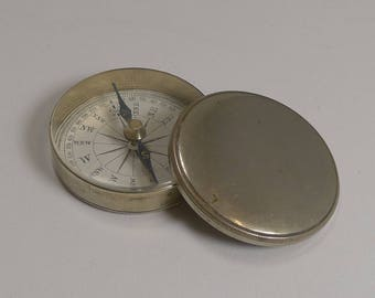 Antique English Pocket Compass in Case c.1880