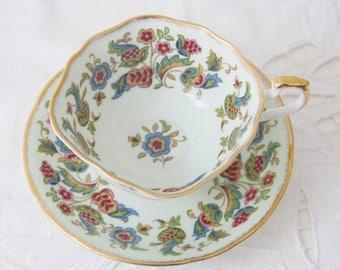 Vintage Paragon Antique Series Fine Bone China 'Stuart' Tea Cup and Saucer, England