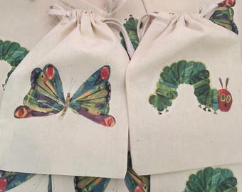Very Hungry Caterpillar favor bags