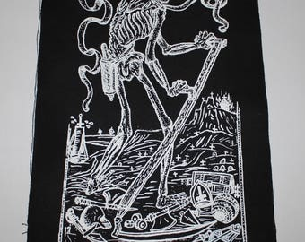 the - DEATH TAROT - back patch