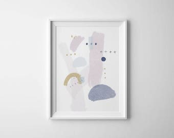 Minimalist Abstract Art, Printable Abstract Art, Minimalist Abstract Painting, Pastel Abstract Art, Minimalist Nursery Art, Nursery Decor