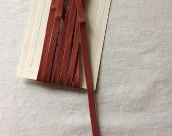 "New Rust Brown Narrow Double Fold Bias Tape Trim 1/4"" wide x 2-1/4 yards long"
