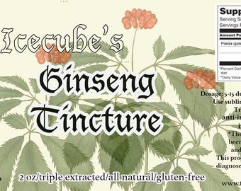 Icecube's Triple-Extracted Ginseng Tincture -- 2 oz. bottle
