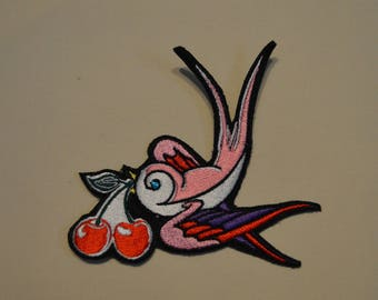embroidered patch swallow 12/10 cm