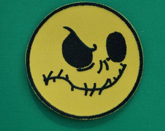 smiley face patch embroidered 2