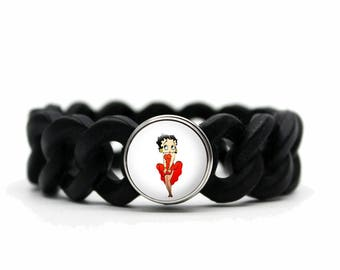 betty black silicone bracelet
