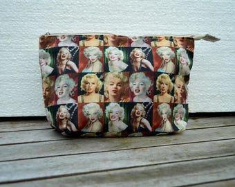 printed pouch Marilyn moonroe 25 15/5 cm