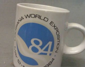 Louisiana World Exposition May 12-Nov. 11, 1984 Souvenir Mug