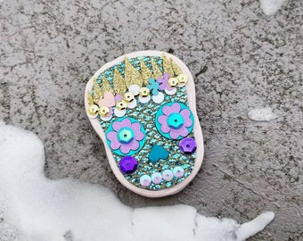 Large Day of the Dead Mermaid Magnet