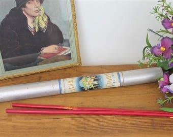 Vintage Candle/Vintage Packaging/ Vintage Flower Lights/ (Ref 1958Q)