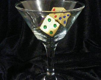 Set Of 24 Beautifully Hand Crafted, Gold Leafed, Large Dice Wedding Favors - FREE Continental U.S. SHIPPING!!!