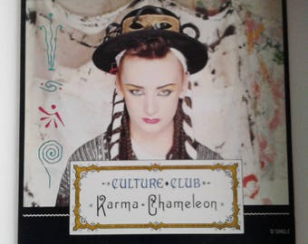 Vintage 1983 CULTURE CLUB Karma Chameleon / That's The Way Record 12 inches s rare recordsingle