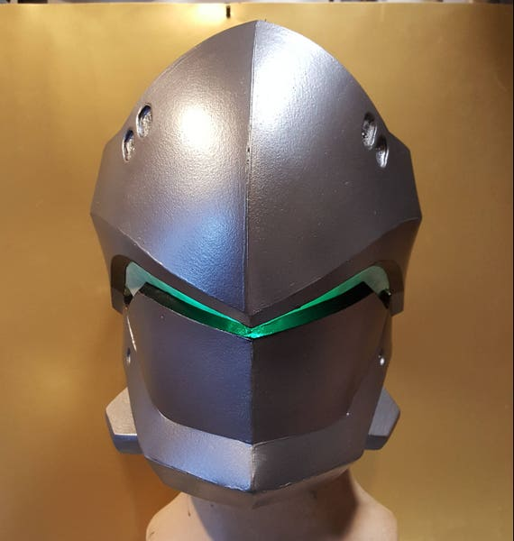 genji overwatch foam helmet templates from xiengprod on etsy studio. Black Bedroom Furniture Sets. Home Design Ideas