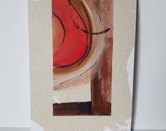"""Mixed Media Acrylic Painting """"Ridge"""""""
