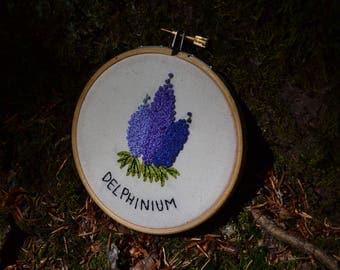 Delphinium hoop