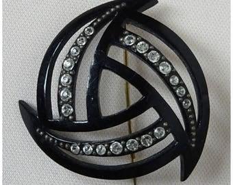 Vintage Art Deco 20s/30s Celluloid Early Plastic BROOCH Hat Lapel