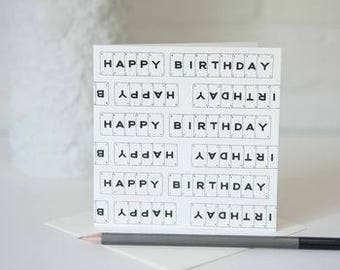 Birthday Card by VINTAGE PLAYING CARDS