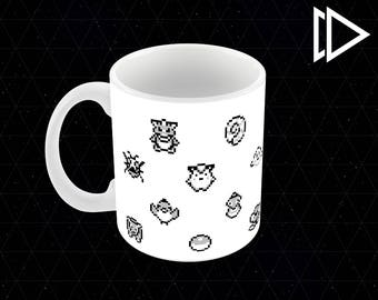Pokemon Sprite Pattern - 11oz Coffee Mug