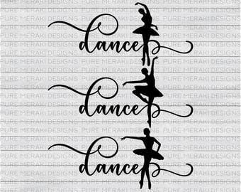 Ballerina SVG, SVG Set, Dance Svg, Dance Cut File, Ballet Svg, Ballerina Silhouette, Dancer Svg, Cricut Cut File, Ballet Graphic, Cameo Svg