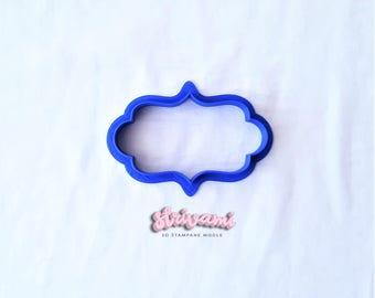 Plaque Cookie Cutter,Frame Cookie Cutter,Wedding Cookie Cutter,Birthday Cookie Cutter,Cookie Cutters,Fondant Cutter