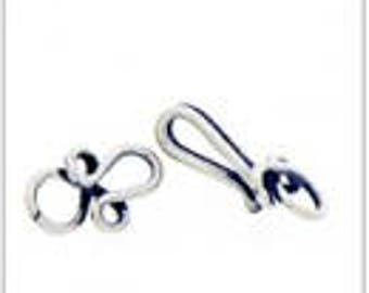 Handmade Bali 925 Sterling Silver Wired Hook Clasp - 2 sets