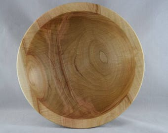 "Silver Maple Wood Bowl, 8-7/8"" (B52)"