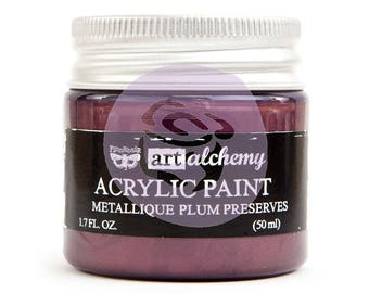 Prima Finnabair Art Alchemy Acrylic Paint Metallique 1.7 oz Pick a Color