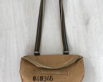Dutch Royal Marine bag, upcycled military bag, shoulder bag, crossbody bag