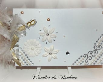 Guestbook white gold and silver