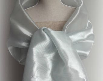 Beautiful light grey organza stole