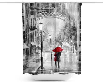Paris Shower Curtain | Paris Bathroom Décor | Paris Bath Curtain | Paris  Bath Décor |