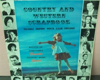 Country And Western Scrapbook Magazine  Black And White Photos of Everyone's Favorite Country Music Stars 1970 16 Pgs Johnny Cash  Etc